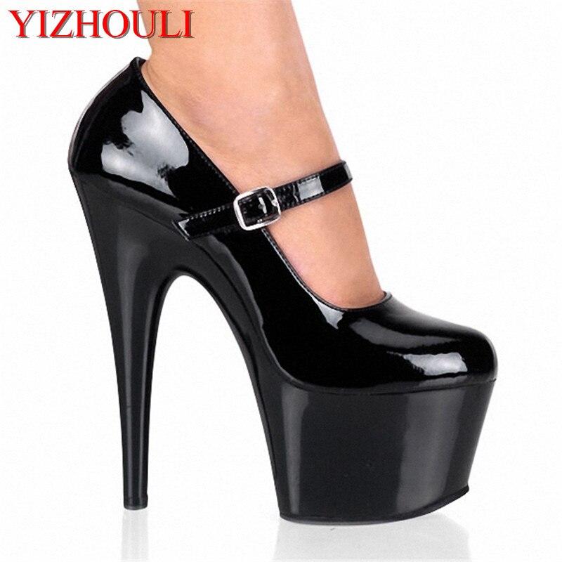Sexy Negro Cuero Pu Pintura 15 De Personalizado Mujer Zapatos Estilo Cm wnAqOIvz