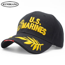 5fd9482e9ee High Quality Men US Marine Baseball Cap Embroidery Army Snapback Dad Hat  Cotton Outdoor Navy Seal