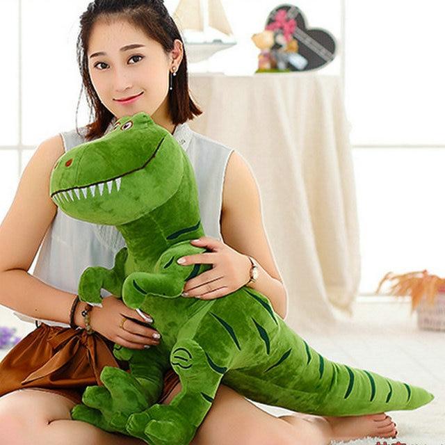 Big size 100 cm Novo Tiranossauro Dinossauro Brinquedos de Pelúcia Dos Desenhos Animados Bonitos Bonecos de Brinquedo de Pelúcia para Crianças dos miúdos Meninos Presente de Aniversário