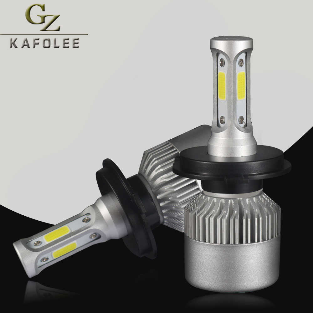 GZ KAFOLEE COB Chips LED H4 Car Headlight HB4 9006 hb4 H1 H3 H7 H8 H9 H11 HB3 9005 H13 880 881 6500K 8000LM led Car Headlight