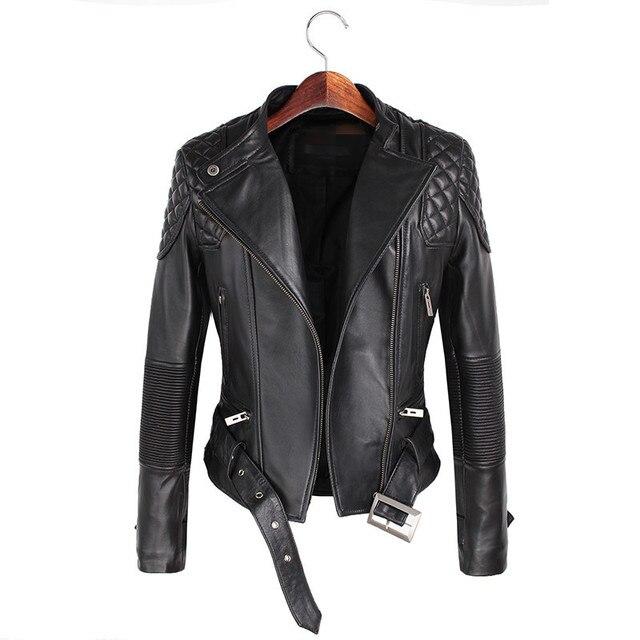 Leather Jackets Women 2017 Spring Autumn Rivet Zipper Motorcycle Faux Leather Coat Female Paragraph Lapel Jacket Coat