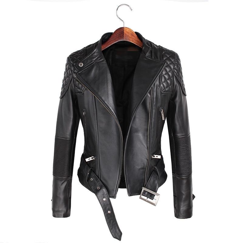 Leather Jackets font b Women b font 2017 Spring Autumn Rivet Zipper Motorcycle Faux Leather font