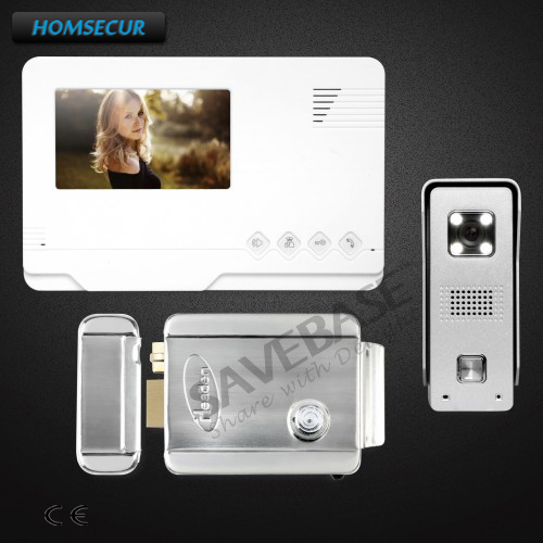 HOMSECUR 4.3inch Wired Video Door Phone Intercom System with Electric Lock+Delivery From Russia homsecur 4 3inch wired video door phone intercom system with electric lock delivery from russia
