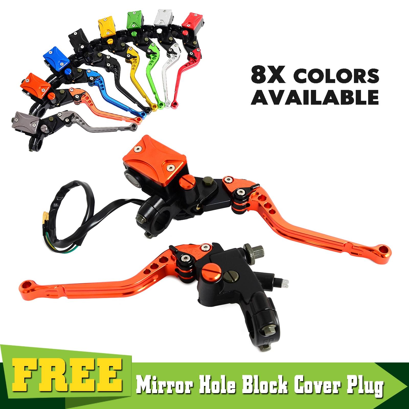 Universal 7/8 Lever Brake Clutch Master Cylinder Set Kit Reservoir For KTM 200 250 300 450 505 525 530 XC/EXC/XC-W