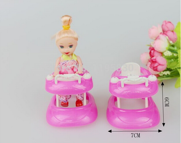 pink plastic walker 16 miniature accessories for barbie doll house dollhouse furniture include random barbie dollhouse furniture cheap