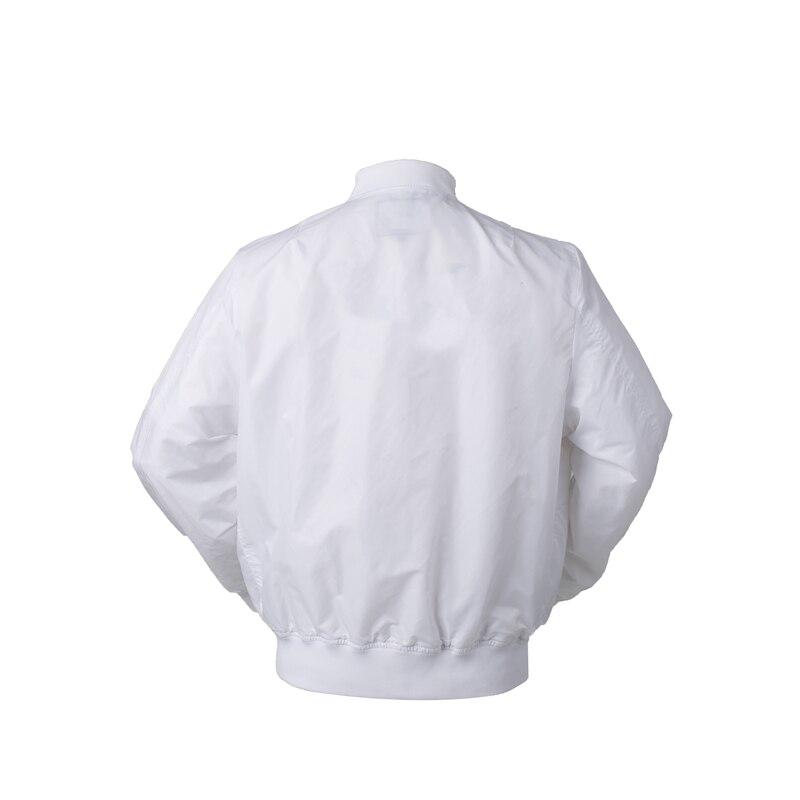 Image 3 - 2018 Autumn Thin White Ma1 bomber flight rain windbreaker waterproof varsity letterman air force baseball jacket for men/women-in Jackets from Men's Clothing
