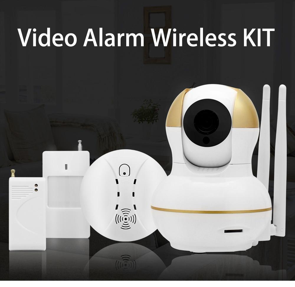 Wistino Alarm Systems Security WIFI IP Camera Security System Video Monitor Surveillance Camera Wireless Home Alarm System With Sensor Alarm Wifi kit Smart Home Camera (1)
