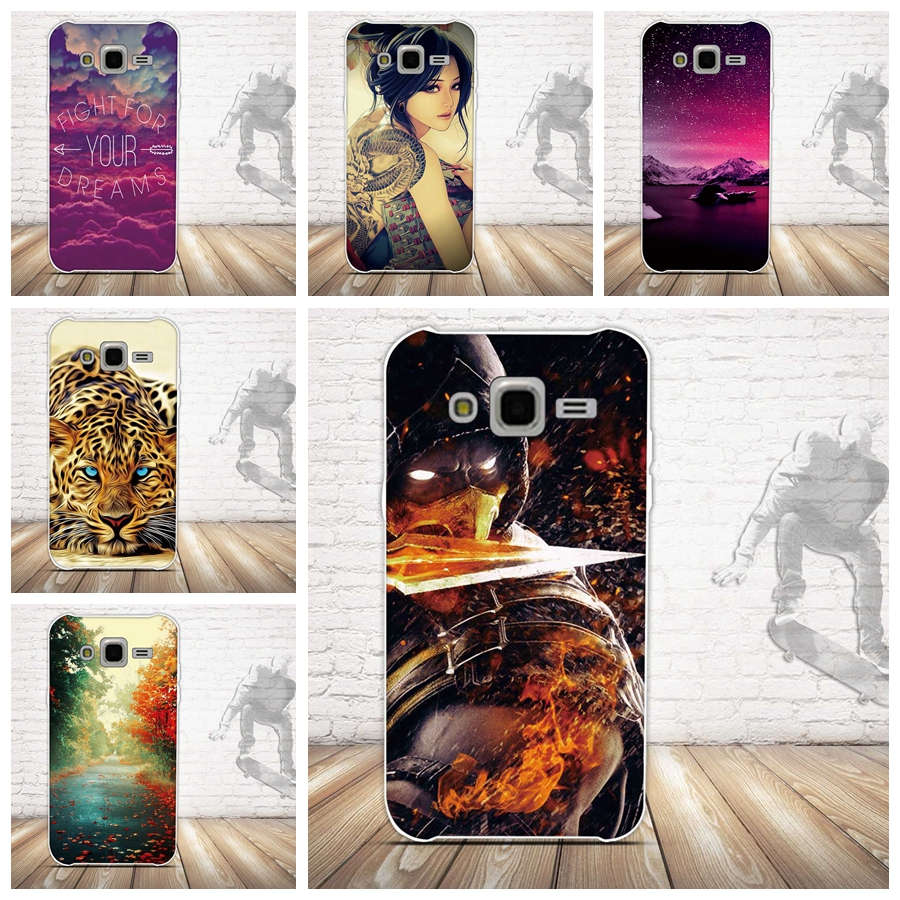 For Samsung Galaxy J5 Case, Luxury 3D Relief Painting Soft Silicon Back Cover Case for Samsung J5 (2015) J500F Phone Covers Bag