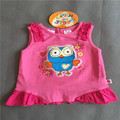 1-4y Retail 1 piece Free shipping baby girl's clothing princess giggle and hoot  pink short sleeve cotton summer t shirt top Tee