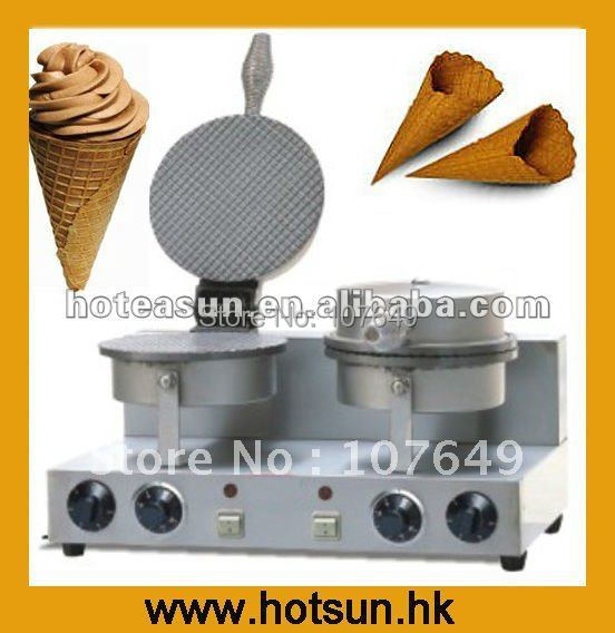 Double Commercial Electric Ice Cream Cone Waffle Baker Maker Machine