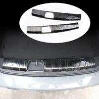 Car Stainless Steel Rear Bumper Trunk Fender Sill Plate Protector Scratch Guard Trim Cover Sticker For Mini Cooper Clubman F54