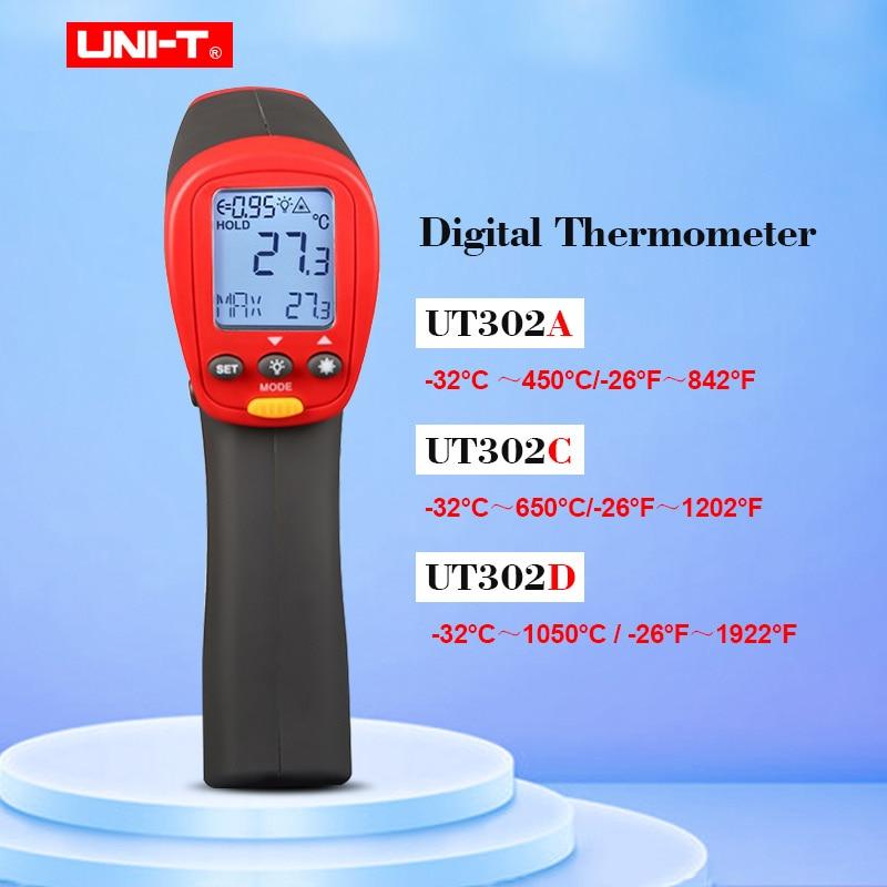 UNI-T UT302A UT302C UT302D Non-Contact Digital Thermometer Handheld Infrared Temperature gun 100% originalUNI-T UT302A UT302C UT302D Non-Contact Digital Thermometer Handheld Infrared Temperature gun 100% original