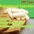 Полифенолы Зеленого Чая Экстракт 100 Caps 98% Высокой Чистоты Чай Катехин Семьи Аутентичные Похудения Мягкие Хлопья