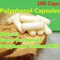 Extracto de Té Verde polifenoles 100 Caps 98% de Alta Pureza Catequinas Del Té Adelgazante Auténtico Familia Copos Suaves