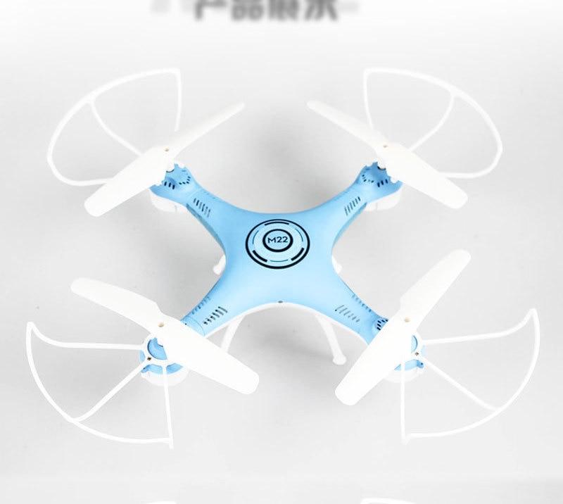 Mini RC quadrirotor jouets avec 0.2mp caméra sans tête LED pour enfants garçons dron télécommande drone cadeau - 4