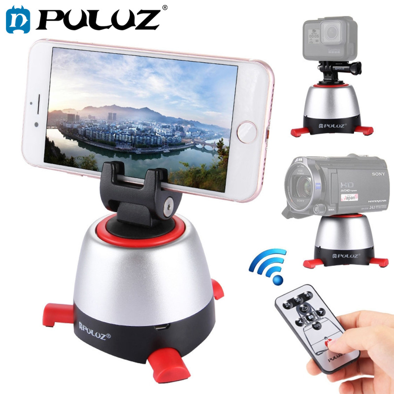 PULUZ Electronic 360 Panoramic Head Rotation Remote Controller for Smartphones/GoPro/DSLR Cameras Red BallheadPULUZ Electronic 360 Panoramic Head Rotation Remote Controller for Smartphones/GoPro/DSLR Cameras Red Ballhead