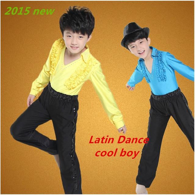0fccfc1ed3589c Gratis bezorging jongen prestaties latin dans kleding kinderen jongen latin  dance shirt dansen kostuums jongens latin