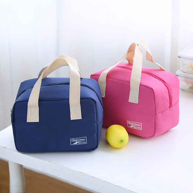 2017 new thermo lunch bag cooler insulated lunch bags for women kids thermal bag lunchbox food picnic bag handbag tote 4 color