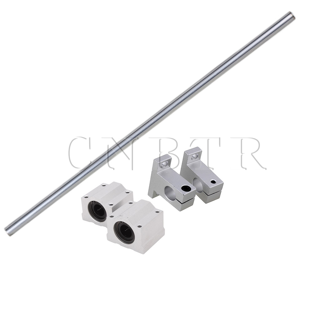 CNBTR OD12 x 400mm Shaft Optical Axis& Ball Slide Rail Support with Bearing