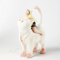 artist design figures Nordic Statue Figurine Miniture Fairy Home decor sculpture cat boy Chirsmas gift polystone