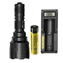 1 pc best price NITECORE P30 flashlight CREE XP-L HI V3 LED max 1000LM 8 mode work beam distance 618 Metro hand torch outdoor re цена