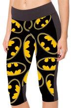 NEW 1085 Sexy Girl Women Summer Comics Batman 3D Prints Workout Stretchy Fitness Elastic Cropped Trousers Leggings Pocket Pants