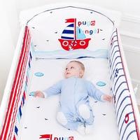 5 Pcs Cotton Baby Bedding Set Cartoon Crib Bed Bumper For Newborn Kawaii Animal Bed Sheet Infant Crib Bedding Set Baby Organizer
