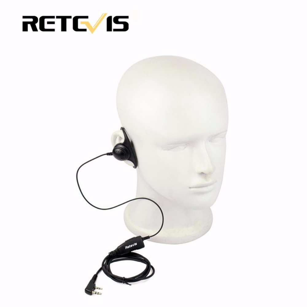 Walkie Talkie Zubehör D Form 2Pin Weichen Ohr Haken Headset PTT Mic Für Kenwood Retevis H777 RT5 Für Baofeng 888 s UV5R C9031A