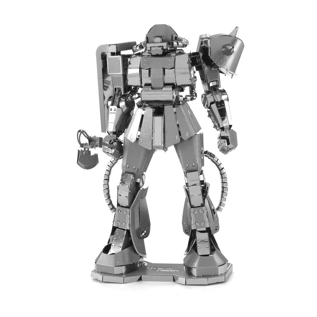 METAL CUBE 3D Metal Puzzle DIY Gundam Robot MS-06 Zaku II Military Model Laser Cut Metalic Nano Jigsaw  NEW in a Box