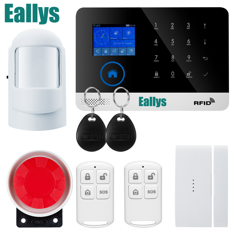 Touch Panel TFT LCD Disply WIFI RFID GSM Home Security Alarm System support EN RU ES PL DE Switchable APP Remote Control недорого