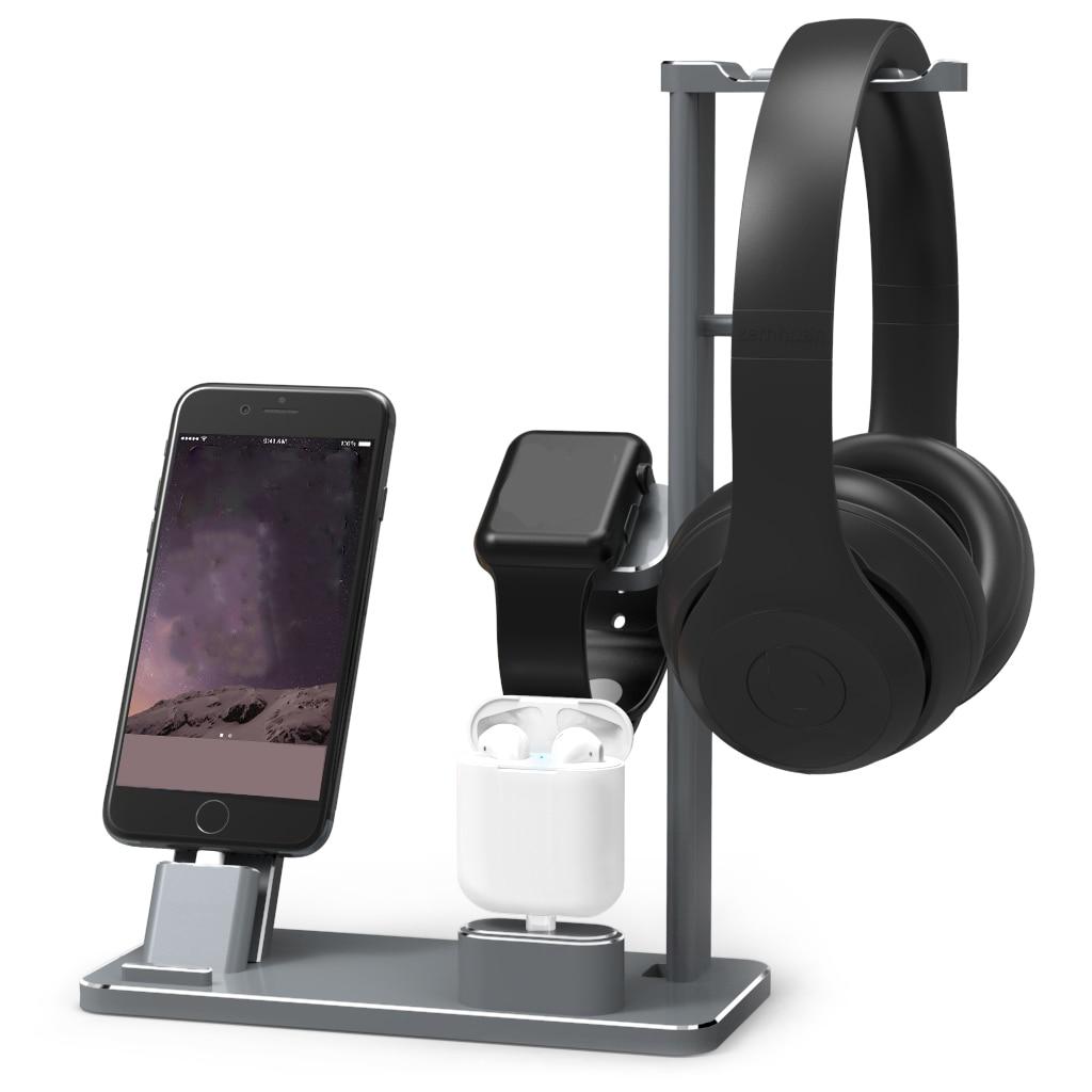 Nouveau 4 dans 1 alliage d'aluminium Station de charge pour Apple Montre Stand de chargement Station Stand pour aplle pour iPhone support de quai