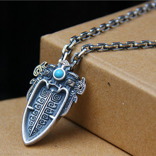 925 Pure Silver Arrows  Pendant Thai Silver Jewelry Mythical Ferocious Animal Pendant For Men Necklace цена в Москве и Питере