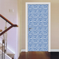 3D Sticker Arab ceramic Mosaic Door Wall Sticker 2pcs 77*200cm DIY Mural Bedroom Home Decor Poster PVC Waterproof Door Sticker