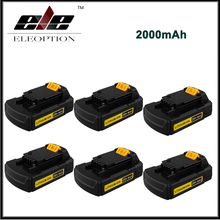 6x High Quality 20V Max 2000mAh Replacement Battery for Stanley Power Tools FMC680L Li-ion