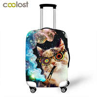 Cute Cat Luggage Protective Cover Thick Elastic Cartoon Suitcase Dust Bag Fashion Travel Accessories Supplies Product