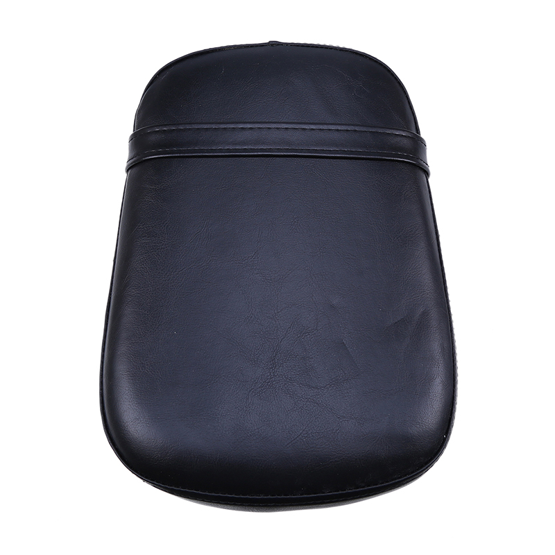 Black Leather Motorcycle Seat Cushion Rear Cafe Racer Bobber Seat Cover For Honda VT750/400 1998-2003 Space Scooter motocicleta