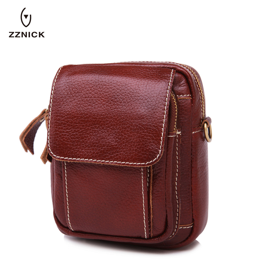 Quality In Just Zznick 2018 Hot Sale Genuine Leather Men Cell/mobile Phone Case Bag Fashion Trend Clutch Wrist Hand Bags Belt Purse Pouch Waist Superior