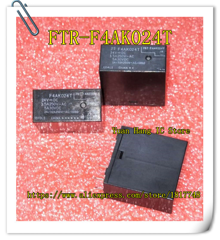 все цены на 10pcs/lot New original FUJITSU Fujitsu relay FTR-F4AK024T 24V F4AK024T онлайн