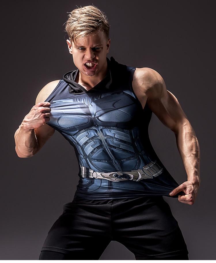 Men's Superhero 3D Printed Tank Top 16