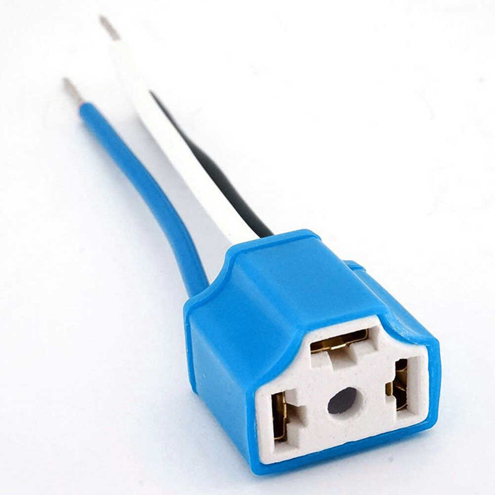 2pcs/lot Car H4 9003 HB2 Hi/Lo Ceramic Wire Wiring Harness Headlight Extension Socket HID LED Wiring Harness Socket Plug