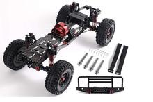 цены 1/10 RC Car SCX10II 90046 Frame Chassis Aluminum Alloy with Upgraded Version Reverse Gearbox and Reverse Axle(Not Include Power)