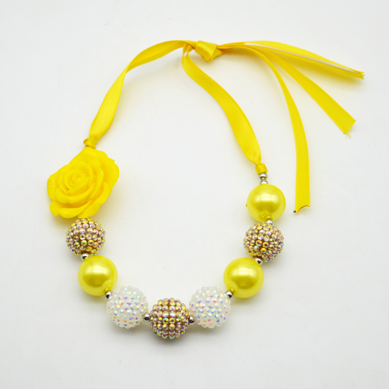 2pcs lot children ribbon yellow flower necklace kids girls chunky 2pcs lot children ribbon yellow flower necklace kids girls chunky bubblegum necklaces for princess costume jewelry on aliexpress alibaba group mightylinksfo