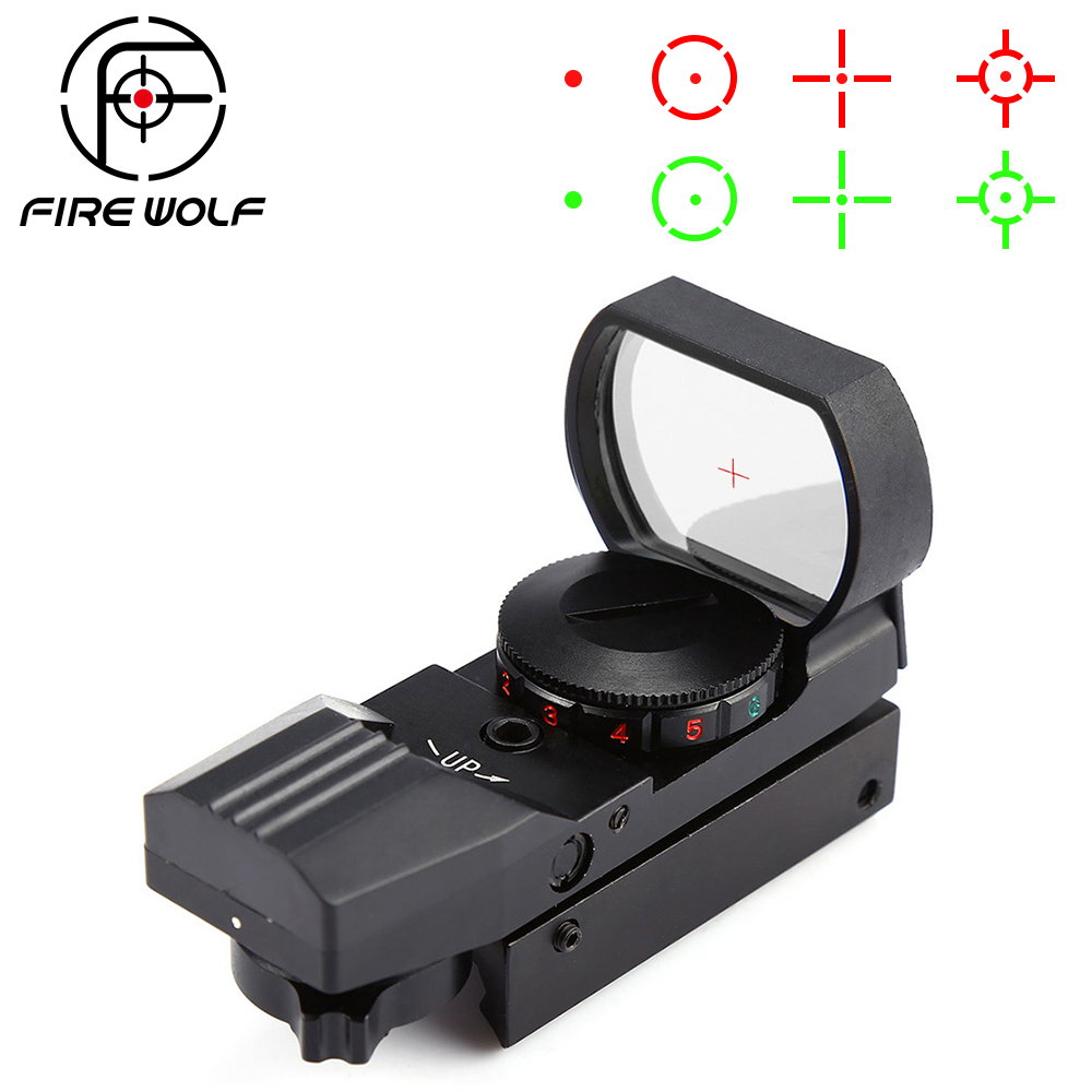 Hot 20mm/11mm Rail Riflescope Hunting Optics Holographic Red Dot Sight Reflex 4 Reticle Tactical Scope Collimator Sight