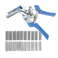 Useful Hog Ring Plier & 600pcs M Clips Staples Anti-slip Handle Stainless Steel Hand Tools Bird Chicken Mesh Cage Wire Fencing Machine Tools & Accessories