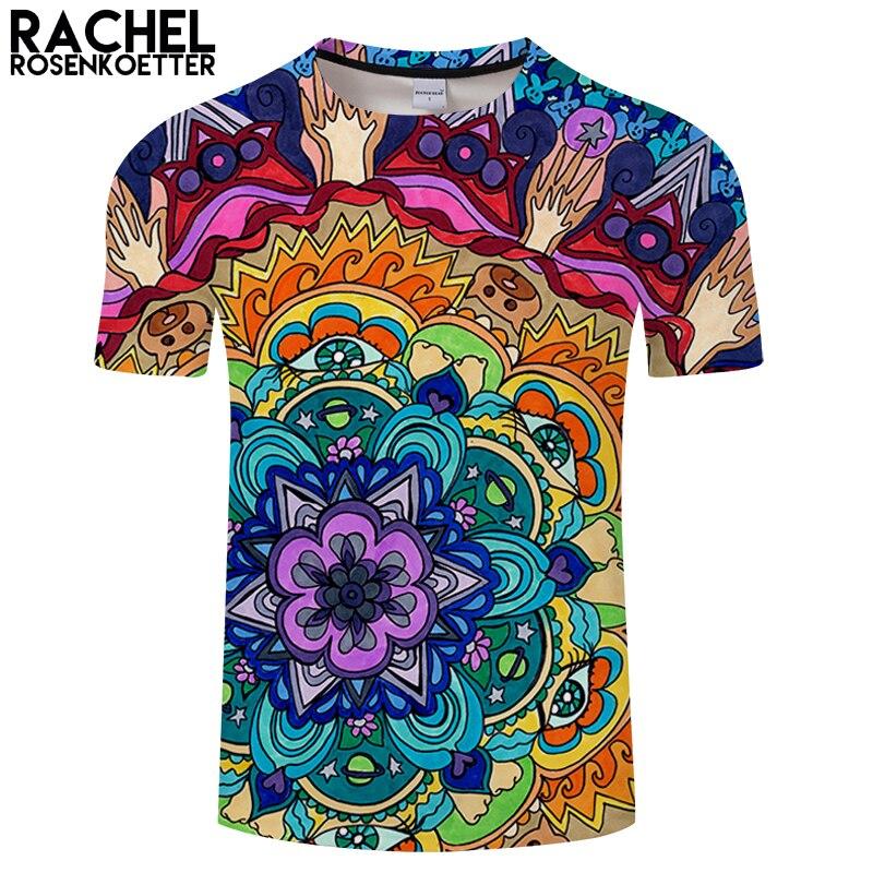 Microcosm Mandala By Rachel Rosenkoetter Art 3DPrint T shirt Men Summer Casual ShortSlee ...