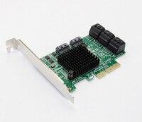 SATA Card PCI e PCI Express to SATA 3.0 III 3 SSD PCIe SATA 8 ports Expansion Board Card Adapter Raiser with Low Profile Bracket