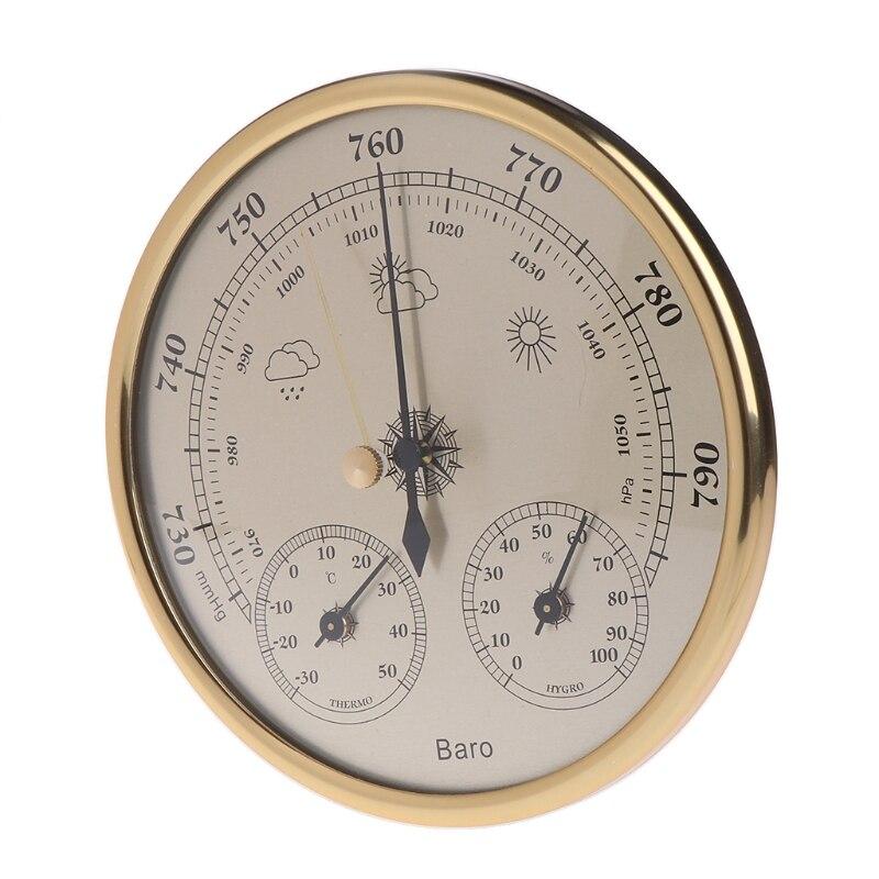 Настенные Бытовые барометры термометр гигрометр Высокая точность манометр воздуха Метеостанция подвесной инструмент