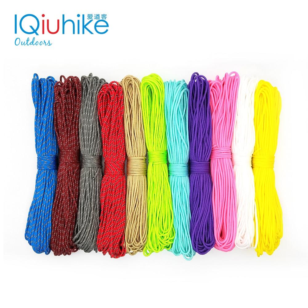 100FT 25FT 100 цветов диаметр 2 мм один стенд сердечник веревка Паракорд для выживания парашютный шнур веревка для палатки для пешего туризма кемп...