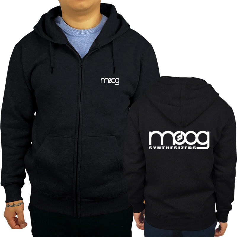 Hoodies & Sweatshirts Men Personality Zipper Sweatshirt Male Hoody Tracksuit Moog Synthesizer Mens Autumn Winter Hoodie