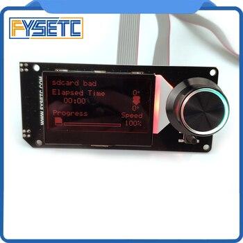 Tipo b mini 12864 display mini12864 v2.1 tela lcd rgb backlight branco suporte marlin diy com cartão sd para peças de impressora skr 3d